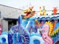 气模玩具水上乐园支架水池大型充气城堡蹦蹦床水上冲关百万海洋球