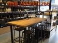 直销美式复古咖啡厅桌椅酒吧实木西餐厅桌椅子奶茶甜品店桌椅组合