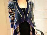 2015春季新款针织开衫民族风宽松毛衣复古女装蝙蝠衫厂家直销37