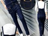 牛仔背带裤女韩版潮长裤2015新款宽松背带长裤显瘦连体裤一件起批