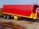 平板自卸后翻半挂车厂家直销1年1万公里7.8万