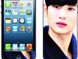 iphone4彩膜 苹果4个性卡通膜 浮雕夜光手机保护膜 彩色贴