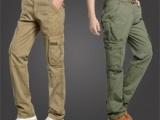 2014新款工装裤男装休闲裤户外多口袋工装裤纯棉直筒宽松休闲长裤