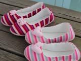月子鞋夏产妇鞋 夏天防滑软底产妇家居鞋 条纹毛线薄款孕妇鞋260
