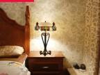 波西米亚灯具欧式地中海艺术创意台灯彩色琉璃 客厅卧室床头灯饰