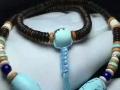 原矿高瓷桶珠绿松石锁骨链,厂家直销