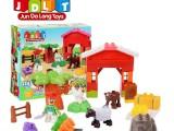 厂家直销 启蒙儿童积木玩具益智积木 塑料拼插拼装玩具宝宝积木