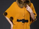 2014秋冬新品女式时尚高贵毛领蝙蝠袖貂绒衫 厂家直销