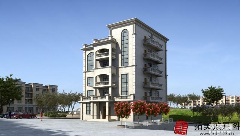 台州3D效果图制作 装修建筑效果图 别墅外观效果图
