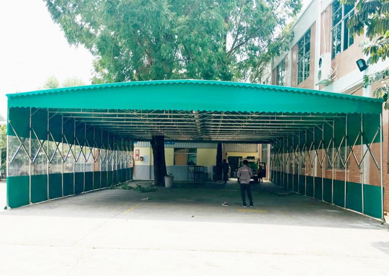 南昌厂家定做推拉帐篷伸缩移动雨棚仓库棚物流活动帐篷