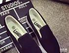韩版黑色女士帆布鞋 休闲布鞋 低帮鞋