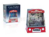 推币机儿童乐趣家用游戏机动感投币机自动灯光音乐