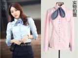 新款秋装韩版衬衫OL气质业装长袖衬衫休闲衬衫打底衬衣X035