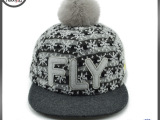 嘻哈平沿帽棒球帽 秋冬款女士帽 韩版街舞帽现货批发 帽子定做