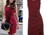 2012夏装新款 时尚性感包臀 收腰裙 6110 瑞丽背心连衣裙