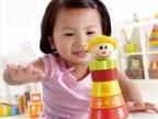 外贸尾单微笑女孩堆塔 儿童玩具 礼物 1岁以上 新款