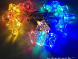 厂家供应 圣诞节日装饰LED电池灯串 亚力克套饰LED串灯