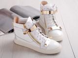 欧洲站G头层牛皮鳄鱼纹真皮双金片系带平底休闲高帮单鞋平跟女鞋