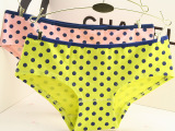 可爱波点女士内裤纯棉外贸原单维多利亚秘密内裤pink小清新三角裤