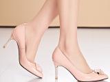 2015新款女鞋 纯色高跟鞋 水钻装饰春鞋欧美潮鞋 一手货源批发