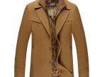 男式冬款加厚大衣羊毛呢立领大衣男加厚呢外套男式加厚加棉呢大衣