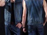 2015春夏男装牛仔马甲士新款牛仔背心男韩版修身牛仔上衣潮LD1