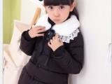 2014新款冬装女儿童羽绒棉服外套 修身小棉衣短款韩版带毛领棉袄