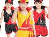 2015年街舞爵士舞表演服火炬现代舞六一儿童舞蹈裙演出服可批发