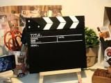 zakka杂货 木质小黑板留言板 场记板导演板无支架 拍摄道具背
