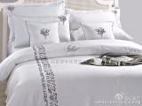 宾馆床上用品四件套厂家直销酒店客房纯棉布草批发