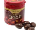 韩国进口巧克力  乐天杏仁巧克力桶装 87g*24