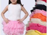 六一儿童演出舞蹈裙春夏新款女童蓬蓬短裙 纯棉糖果百搭半身纱裙