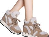 厂价直销 秋冬 加绒保暖 棉女短靴