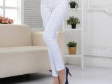 2015夏款女式高腰长裤 弹力修身小脚裤 女式紧身型收腹铅笔裤