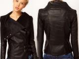 2014欧洲站外贸新款女装 高端定制女士皮衣短款修身外套一件代发