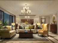 万科悦湾洋房装修平面参考图-天古装饰万科悦湾现代美式风格设计