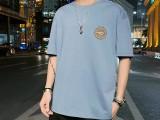 便宜男式T恤厂家直销夏季短袖广州新塘男装批发纯棉t恤韩版货源