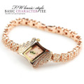 淘宝热卖 金面菱形镶钻手链表 精致腕表 一件代发
