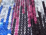 5厘双色网布珠片绣 亮片绣 服饰箱包面料 手袋面料批发