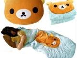 轻松小熊黄小鸡空调被抱枕两用夏凉被 折叠靠垫被车载被抱枕被
