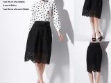 2015春季新款女装 欧洲站蕾丝刺绣蝴蝶结半身裙 显瘦包臀蓬蓬裙