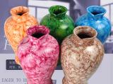 陶瓷花瓶 创意欧式家居大理石装饰品工艺品摆件独特礼品 特价厂家