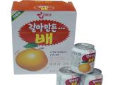 韩国海太饮料批发         海太梨汁  238mL *12