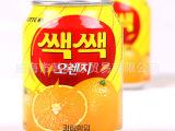 供应韩国食品/乐天橙汁