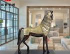 欧美风格战马摆饰开业礼品 时尚创意马摆件树脂工艺品送礼佳品