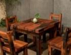 清远老船木办公家具中式电脑桌实木茶桌茶台简约沙发茶几餐桌酒吧台博