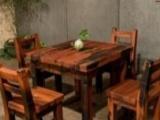 鄂州老船木办公家具中式电脑桌实木茶桌茶台简约沙发茶几餐桌酒吧台博古架仿古大门双人