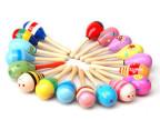 多款彩色木制沙锤 幼儿声乐奥尔夫乐器 小号摇铃 随机发 早教玩具