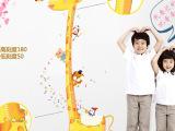 一件代发可移除墙贴纸 儿童房卡通墙贴 手绘长颈鹿身高贴819