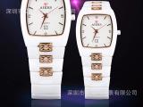 正品瑞士艾尔时手表 陶瓷带女表韩版时尚学生时装表防水石英表